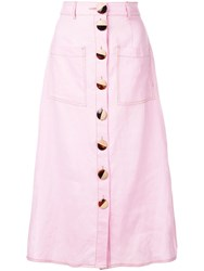 Nicholas Front Button Skirt Pink
