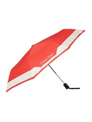 Calvin Klein Medium Foldable Umbrella Red