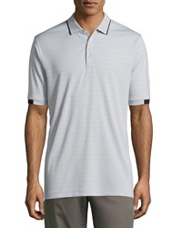 Callaway Short Sleeve Knit Polo Shirt W Contrast Trim High Rise
