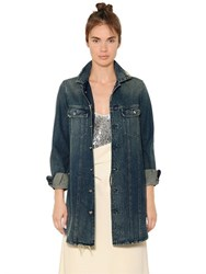 Maison Martin Margiela Long Cotton Denim Jacket