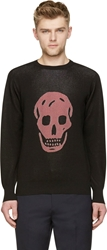 Alexander Mcqueen Black Knit Skull Sweater