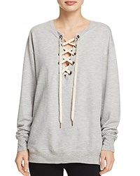 Project Social T Lace Up Sweatshirt Heather Grey