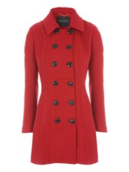 Jane Norman Fit And Flare Bow Back Coat Red