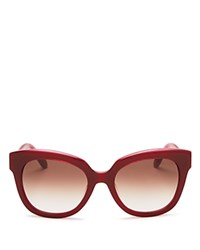 Kate Spade New York Amberly Cat Eye Sunglasses 54Mm Red Pink Warm Brown Gradient