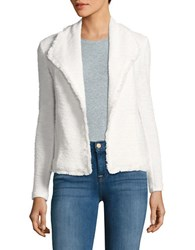 Ivanka Trump Open Front Tweed Jacket Ivory