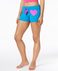 Betsey Johnson Xox Trolls Cozy Sweater Shorts Only At Macy's Blue