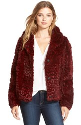 Women's Diane Von Furstenberg 'Julia' Laser Cut Genuine Rabbit Fur Bomber Jacket