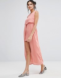 Jovonna Jovanna Icing On The Cake Midi Dress Salmon Pink