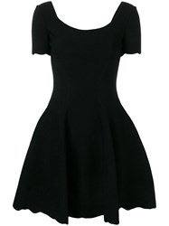 Alexander Mcqueen Fit And Flare Dress Black