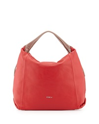 Furla Elisabeth Leather Hobo Bag Red
