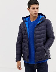 Esprit Puffer With Hood In Navy