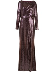 Badgley Mischka Sequin Evening Dress 60