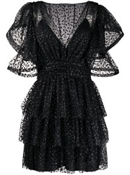 Alberta Ferretti Glittered Ruffled Dress 60