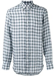 Canali Checked Shirt Green