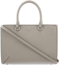Tory Burch Robinson Small Saffiano Leather Tote French Gray