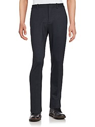 Perry Ellis Solid Flat Front Pants Charcoal