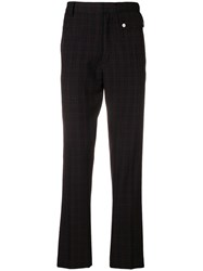Cmmn Swdn Plaid Trousers Black