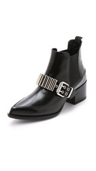 Mcq By Alexander Mcqueen Boundary Metal Bar Booties Black
