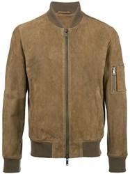 Desa 1972 Zip Up Bomber Jacket Brown