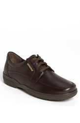Men's Mephisto 'Agazio' Moc Toe Derby Dark Brown