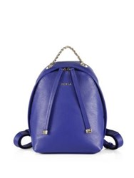 Furla Spy Mini Leather Backpack Blue Laguna