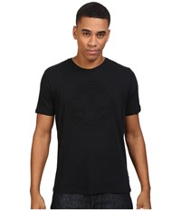 Converse Embossed Short Sleeve Core Patch Crew Tee Black Men's T Shirt