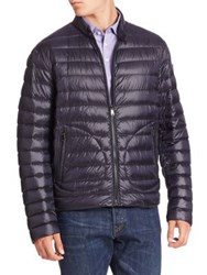 Ralph Lauren Purple Label Solid Quilted Jacket Navy