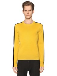 Dsquared Wool Knit Sweater W Contrasting Stripes