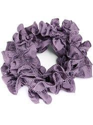 Y Project Over Sized Ruffled Scarf Pink Purple