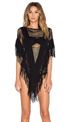Beach Bunny Indian Summer Poncho In Black.