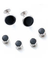 Bloomingdale's Oval Shirt Stud And Cufflinks Set 100 Exclusive No Color