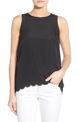 Women's Kensie Laser Cut Layered High Low Tank