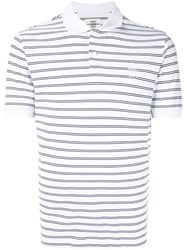 Kent And Curwen Striped Polo Shirt White