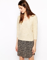 Sessun Whitebait Knitted Jumper With Chain Detail Fleurdeselcream