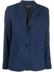 Theory Single Breasted Blazer Blue