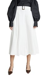 Adeam Belted Cullotte Pants White