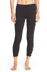 Women's Hard Tail 'Cage' Stretch Cotton Leggings Black
