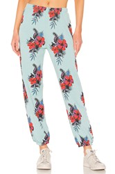 Wildfox Couture Hibiscus Dreams Easy Sweat Blue