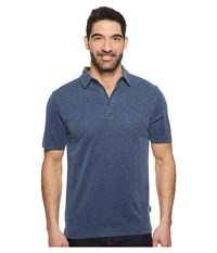 Royal Robbins Great Basin Dry Polo Collins Blue Short Sleeve Pullover