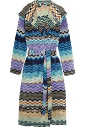 Missoni Home Lara Hooded Cotton Terry Robe Azure