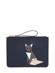 Tod's Fox Applique Leather Pouch