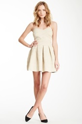 Gracia Strapless Bandage Dress Beige