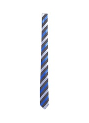 Mauro Grifoni Regimental Stripe Silk Tie Blue