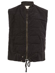 Greg Lauren Zipped Sleeveless Gilet Black