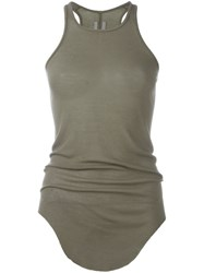 Rick Owens Ribbed Tank Top Grey