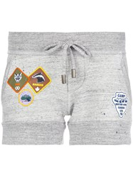 Dsquared2 Track Shorts With Patch Applique Cotton Grey