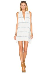 Blue Life Sleeveless Shift Dress White