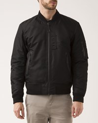 Denim And Supply Ralph Lauren Black Nylon Bomber Jacket