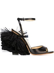 Moschino Fringed Sandals Black