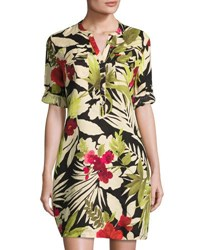 Tommy Bahama Victoria Blooms Floral Print Linen Dress Multi Pattern